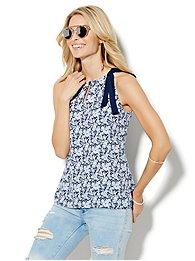 soho-soft-tie-neck-halter-blouse-mini-floral-