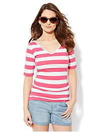 tee-luxe-shirred-v-neck-tee-stripe