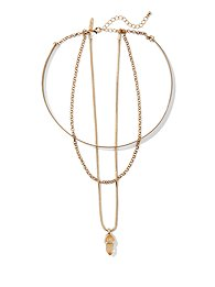 triple-row-faux-crystal-pendant-necklace-