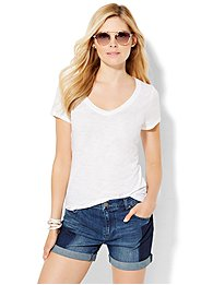 v-neck-tee-sequin-sleeve-
