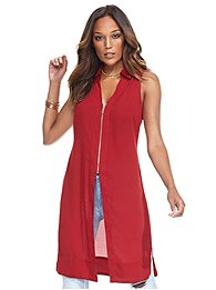zip-front-long-sleeveless-blouse-