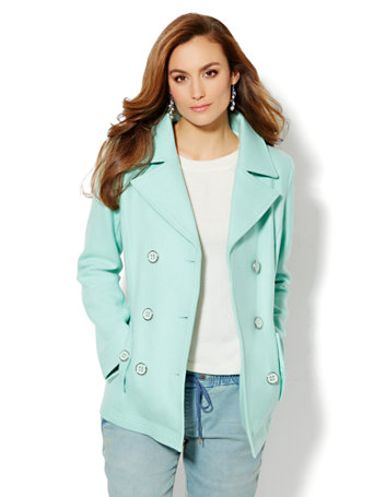 Mint Pea Coat | Fashion Women's Coat 2017