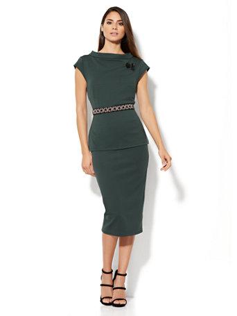 Ny C 7th Avenue Design Studio Pull On Knit Pencil Skirt
