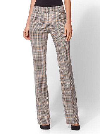7th Avenue Pant   Gold Plaid Bootcut   Modern by New York & Company