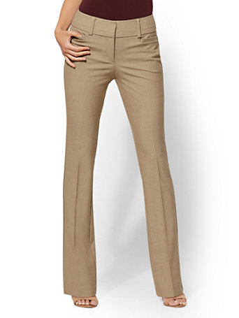 7th Avenue Pant   Tan Bootcut   Modern by New York & Company