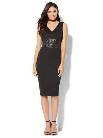 nyc corset sheath dress
