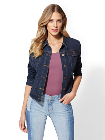 Denim Jacket   Deep End Blue by New York & Company