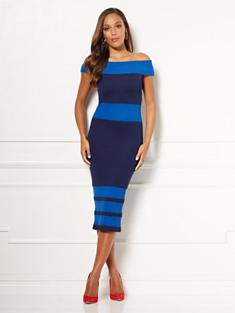 Eva Mendes Collection   Chantelle Sweater Dress by New York & Company