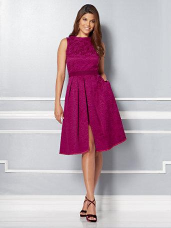 Ny Amp C Eva Mendes Collection Freya Dress Jacquard