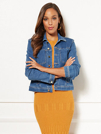 Eva Mendes Collection   Halle Denim Jacket by New York & Company