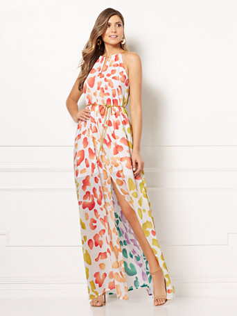 Eva Mendes Collection   Maritza Halter Maxi Dress by New York & Company