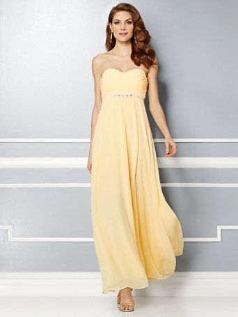 NY&amp-C: Eva Mendes Party Collection - Valentina Empire-Waist Dress