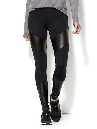 These are our Genteel Faux Leather Panel Jeggings, and they are sleek, stylish, and ready to take your look to the next level. Despite featuring a polished and seductive look, these flattering skinny fit bottoms are super comfortable for easy all day wear.