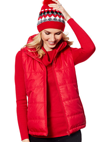 Women's Fleece Lined Puffer Vests