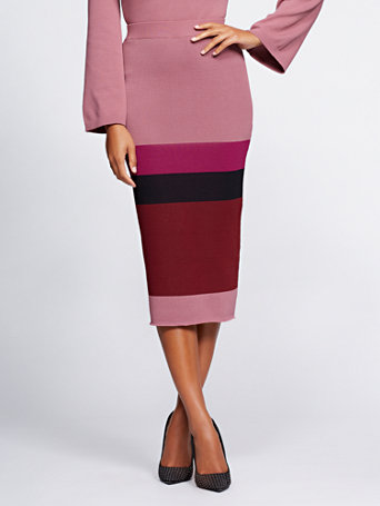 Gabrielle Union Collection   Colorblock Sweater Skirt by New York & Company