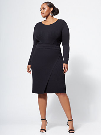 Gabrielle Union Collection   Plus Black Sweater Dress by New York & Company