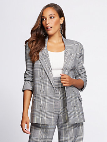 Gabrielle Union Collection   Tall Plaid Blazer by New York & Company