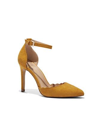 Scalloped Ankle Strap Pump by New York & Company