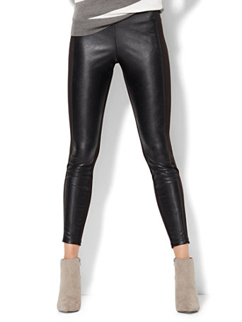Leather Ponte Leggings