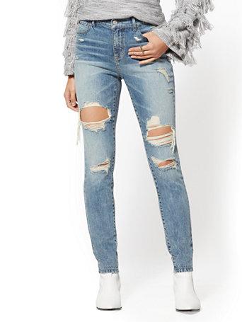 Soho Jeans   High Waist Legging   Wave Blue by New York & Company