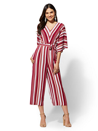 Stripe Culotte Jumpsuit by New York & Company