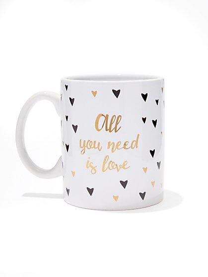 """All You Need Is Love"" Heart Mug  - New York & Company"