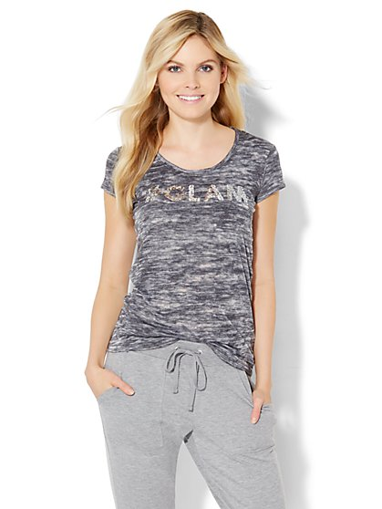 """#Glam"" Sequin Logo Tee  - New York & Company"