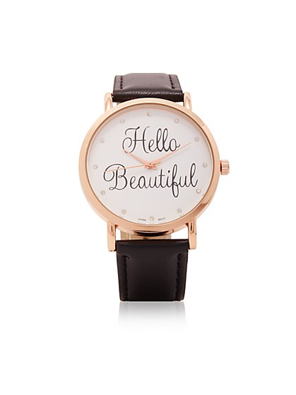 """Hello Beautiful"" Watch  - New York & Company"
