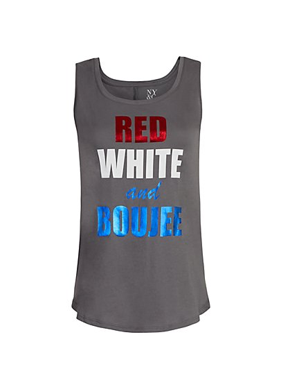 """""""Red, White & Boujee"""" Graphic Tank - New York & Company"""