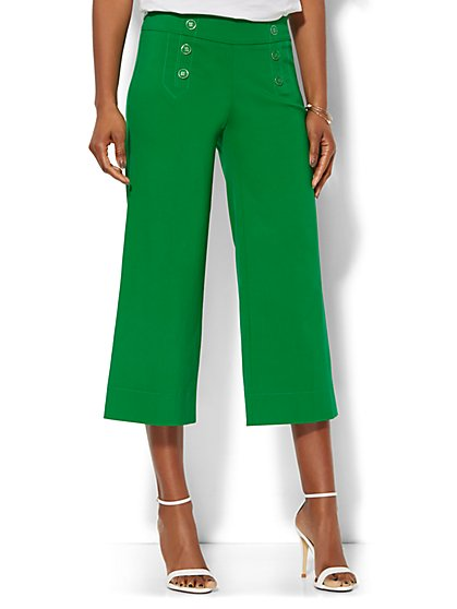Sailor Crop Pant - Floral Park Green  - New York & Company