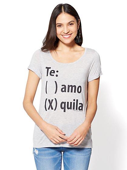 """""""Te: () amo (x) quila"""" Graphic Logo Tee - New York & Company"""