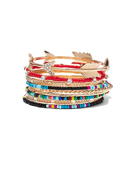 10-Piece Bangle Bracelet Set  - New York & Company