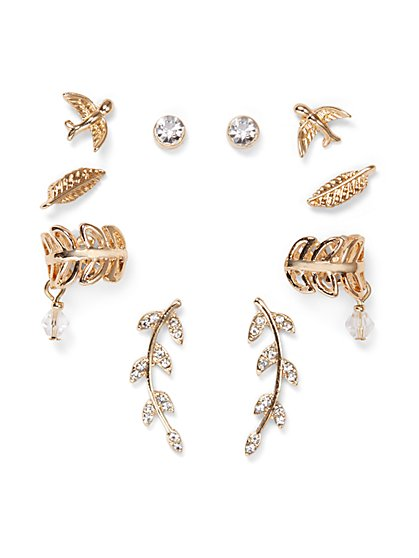 10-Piece Goldtone Earring Set  - New York & Company