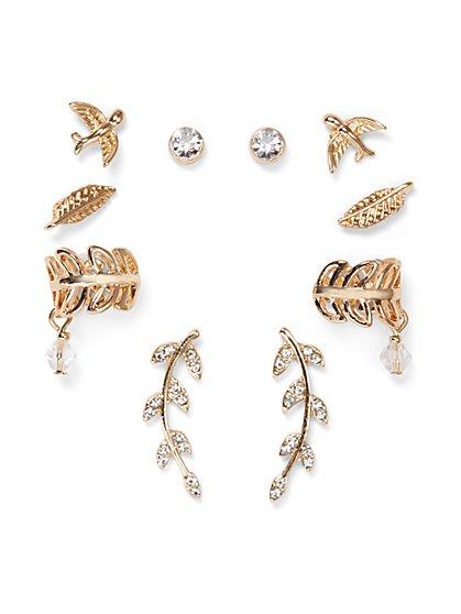 10-Piece Goldtone Earring Set  - New York & Company