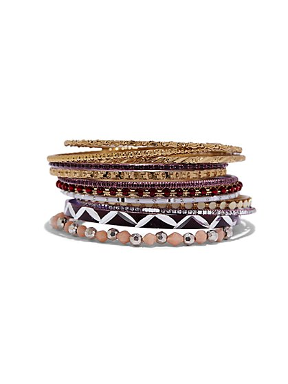 12-Piece Bangle Bracelet Set  - New York & Company