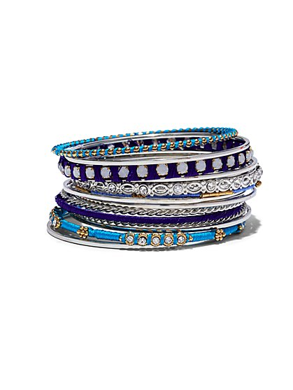 13-Piece Bangle Bracelet Set  - New York & Company