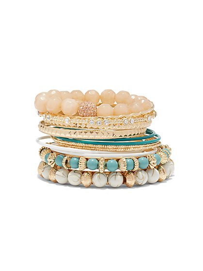 14-Piece Beaded Bracelet Set  - New York & Company