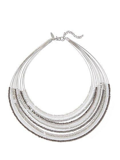 15-Row Beaded Necklace  - New York & Company