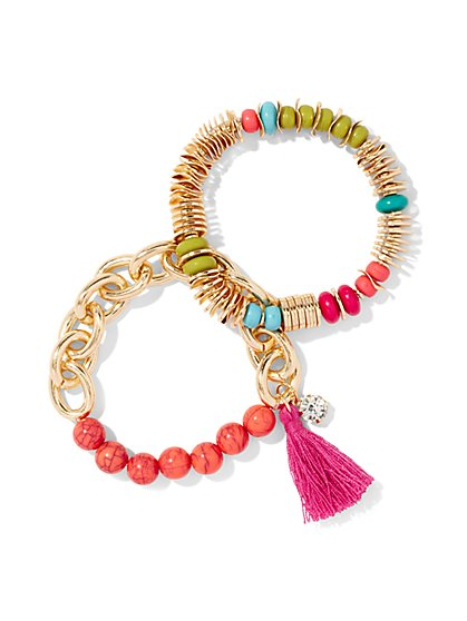 2-Piece Beaded Bracelet Set  - New York & Company