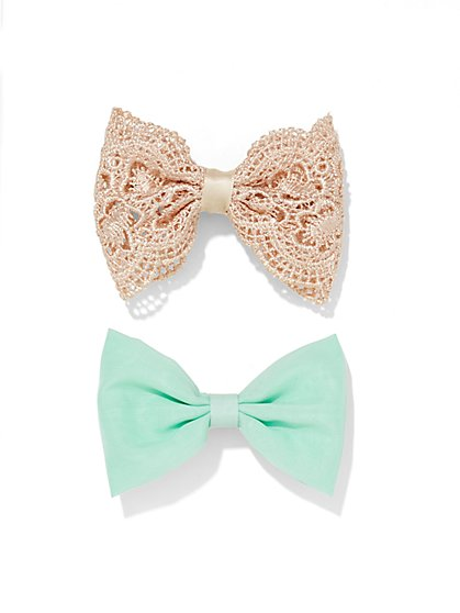 2-Piece Hair Bow Set  - New York & Company