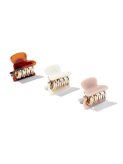 2-Piece Silvertone Bobby Pin Set / 3-Piece Hair Clip Set - New York & Company