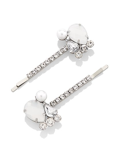 2-Piece Silvertone Bobby Pin Set  - New York & Company