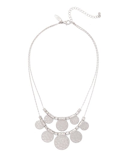2-Row Disc Necklace  - New York & Company
