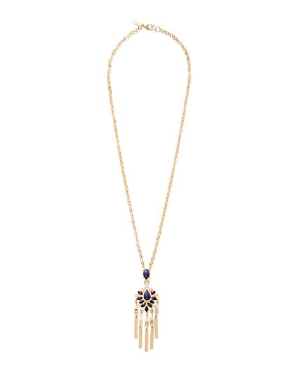 2-Row Pendant Choker Necklace / Medallion Pendant Necklace  - New York & Company