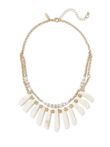 2-Row Statement Necklace  - New York & Company