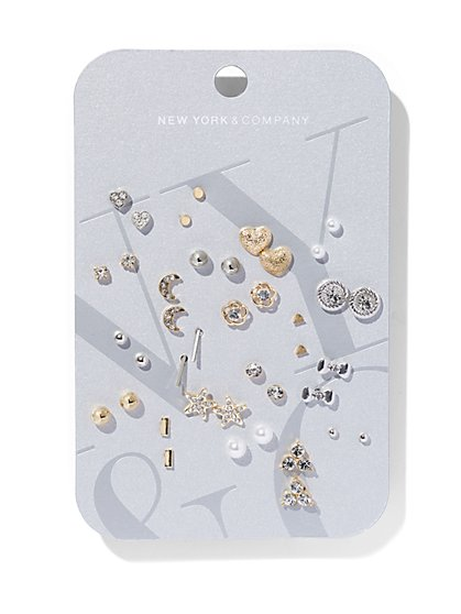 20-Piece Post Earring Set  - New York & Company