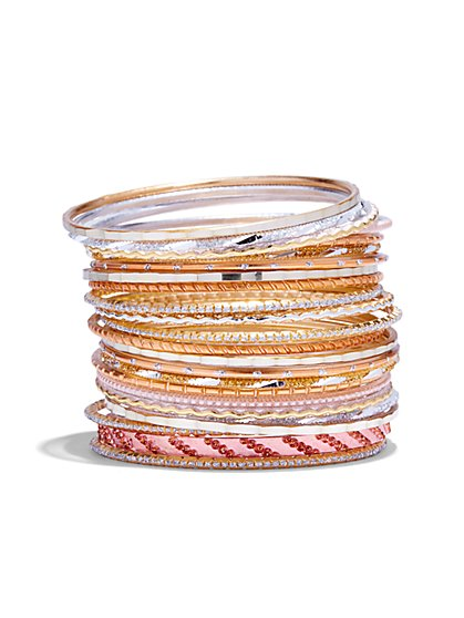 21-Piece Bangle Bracelet Set  - New York & Company