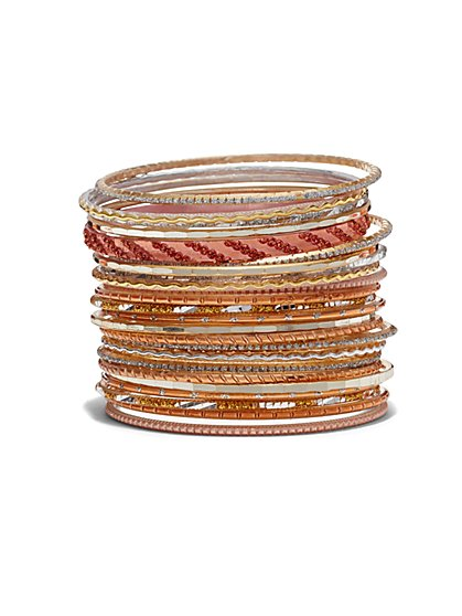 24-Piece Bangle Bracelet Set  - New York & Company