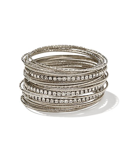 25-Piece Metallic Bangle Set - New York & Company