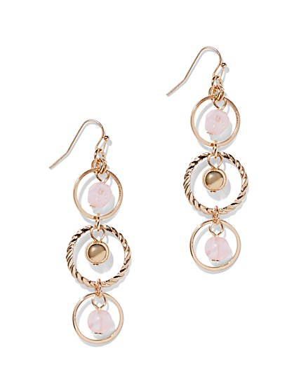 3-Circle Drop Earring  - New York & Company